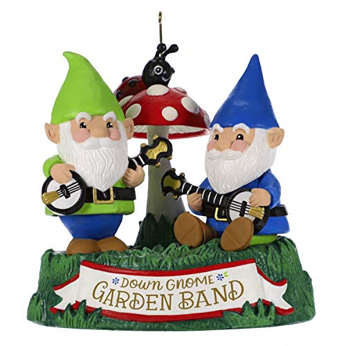- Hallmark Keepsake Christmas Ornament 2019 Year Dated Dueling Garden Gnomes with Sound (Plays Duelin' Banjos Song),