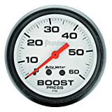 "Auto Meter 5705 Phantom 2-1/16"" 0-60 PSI Mechanical Boost Gauge"