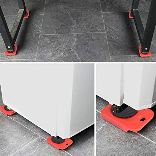 Heavy Furniture Moving System Lifter Kit w// 4 Slider Glider Pad Sofa Easy Mover