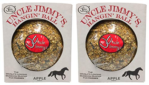 Uncle Jimmys 2 Pack Of Hanging Ball Apple Flavored Treats For Horses, 3 Pound Each