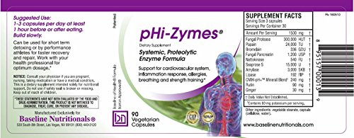 Phi Zymes Systemic Proteolytic Enzymes 90 Count For