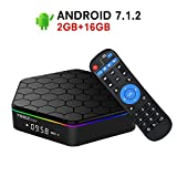 2018 Model Android 7.1 TV Box,Z Plus Android TV Box Amlogic S912 Octa Core 2GB RAM 16GB ROM Support Dual WiFi 2.4G/5GHz Ethernet 1000M LAN 64-Bit H.265 Bluetooth 4.0 True 4K 3D Mini PC TV Boxes