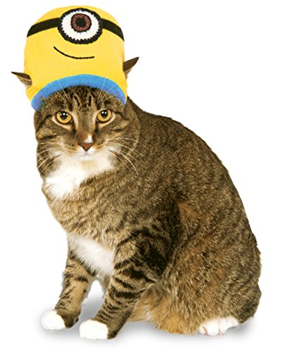 Minion Stuart Knit Cat Headpiece, NS (Minion Cat Costume)