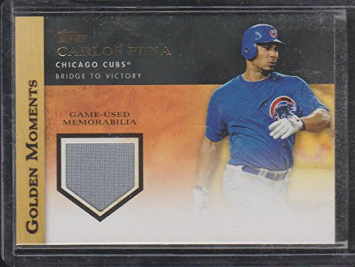 2012 Topps Golden Moments Carlos Pena Cubs Game Used Jersey Baseball Card - Game Carlos Pena