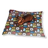 Colorful Monsters Dog Pillow Luxury Dog / Cat Pet Bed