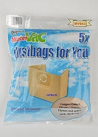 10x Bolsas de aspiradora Hervidor de polvo Bolsas para aspiradora Kärcher WD 3.300M/MV3, wd3.300m/MV3Premium, WD 3.230, WD 3.250: Amazon.es: Hogar