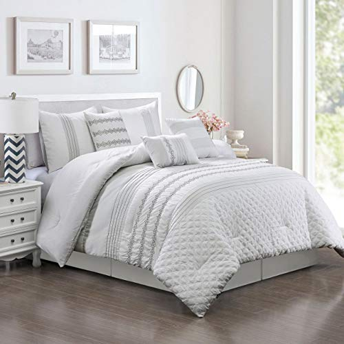 - 11 Piece Lirit White Bed in a Bag Set Queen