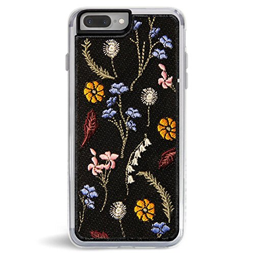 Embroidered Phone Case (Zero Gravity Apple iPhone 7 Plus / 8 Plus Gather Phone Case - Embroidered Wildflower Design - 360° Protection, Drop Test Approved)