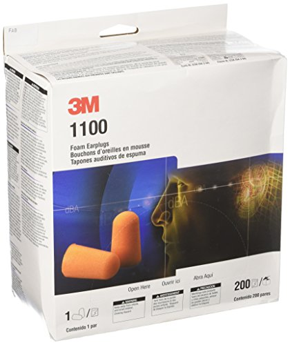 3M 1100 Foam Ear Plugs, 200-Pair by 3M