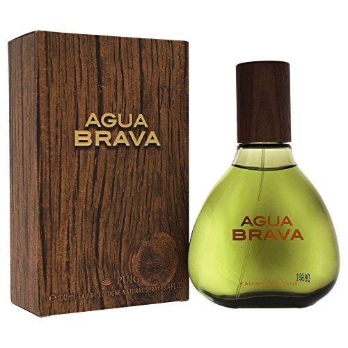 Antonio Puig Agua Brava Eau de Cologne Spray para Hombre, 3.4 Oz/100 ml, el empaque puede variar