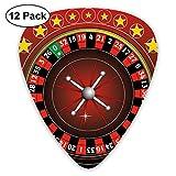 HAIDILUN Roulette Wheel Game Compass Guitar Picks Plectrums Acoustic Guitar Ukulele Picks 0.46 Mm, 0.73mm, 0.96 Mm,12 Pack