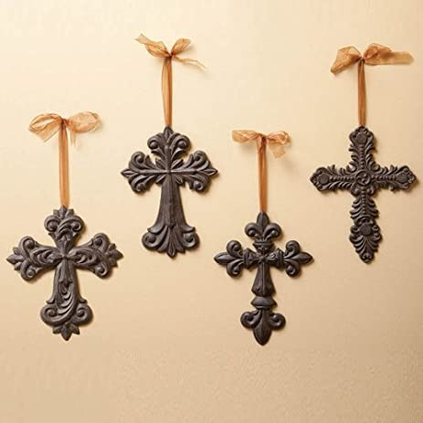 Amazon.com: Cast Iron Crosses Wall Decor: Home & Kitchen