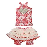 Ooh La La Couture Big Girls Coral Champagne Toile Skirt Outfit 12