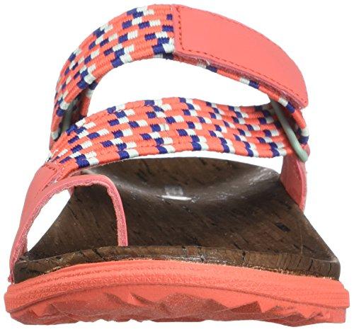 Coral Sunvue Around Flat Women's Sandals Town Hot Merrell Woven Thong Cq4zwwt