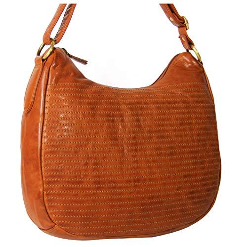 ALMADIH läder damväska Dana av premium oxläder brun vintage – läderväska axelväska handväska Shopper Business väska fritidsväska City Bag knadslipare M56