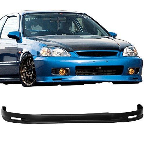 Mugen Front Bumper Lip Spoiler 99-00 Honda Civic 2Dr 4Dr PP Dx (UNPAINTED) - Honda Front Lip