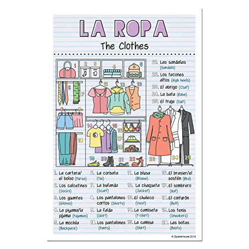 Amazon.com: Spanish Verbs & Beginner Vocabulary Classroom Variety Posters, Set of 11, 12 x 18 inches (Set A): Industrial & Scientific