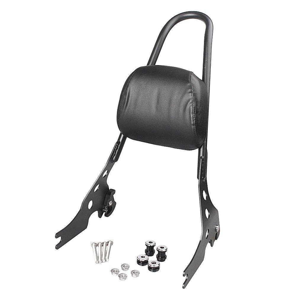GZYF Sissy Bar Backrest Luggage Rack For Harley Davidson Sportster XL 883 1200 Black