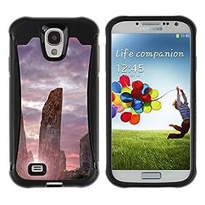 Suave TPU GEL Carcasa Funda Silicona Blando Estuche Caso de protección (para) Samsung Galaxy S4 IV I9500 / CECELL Phone case / / Architecture Ancient Stones Sunrise /