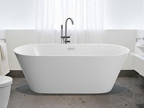 Vasca Da Bagno Ovale : Vasca da bagno freestanding ovale acrilico havana iii beliani