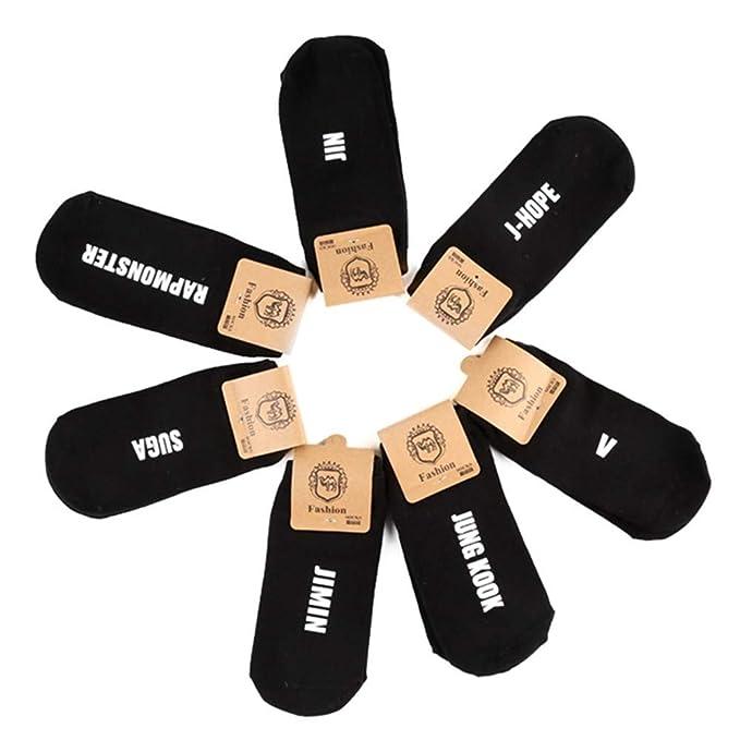Amazon Com Kpop Bts Bangtan Boys Socks Women Cartoon Cotton Sock