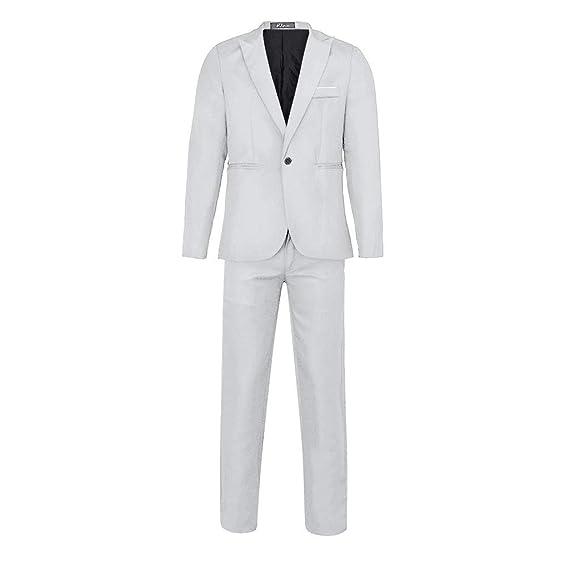 Chaqueta de Traje para Hombre Suit Slim Blazer Chaqueta de Fiesta ...