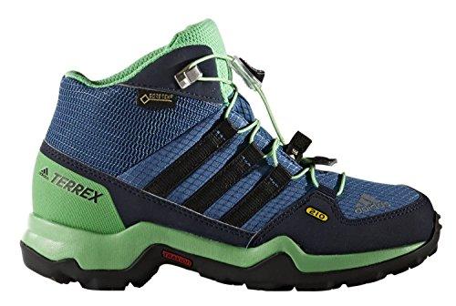 Adidas Terrex Mid Gtx K, Bottes de Randonnée Mixte Enfant, Bleu (Azubas/Negbas/Verene), 31.5 EU