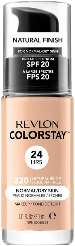 Oferta amazon: Revlon ColorStay Base de Maquillaje piel normal/seca FPS20 (#220 Natural Beige) 30ml