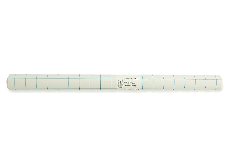 LANDRE 100420050 Bucheinband-Folie 1 Stück Rolle Format 300 x 40 cm selbstklebend transparent Heftumschlag Buchumschlag Hamelin GmbH