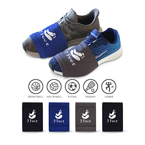 2 FEET Sock for Dancing on Smooth Floors | Over Sneakers, Smooth Pivots & Turns to Dance with Style on Wood Floors | Protect Knees | 4 Pairs (Dark Blue, Dark Grey, Black, Black) for Men and Woman (Best Type Of Shoes For Racquetball)