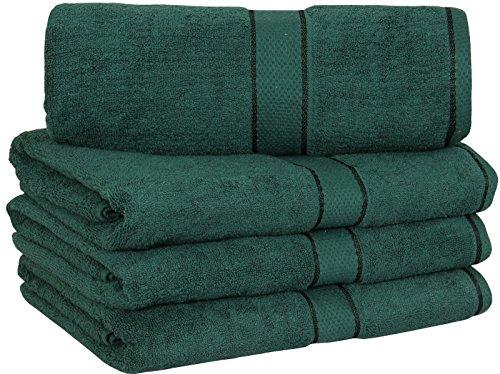 4 EXTRA LARGE PREMIUM BATH TOWEL 100% COTTON, RING SPUN, SOFT AND ABSORBENT