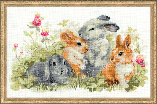 (RIOLIS 1416 - Funny Rabbits - Counted Cross Stitch Kit 15¾