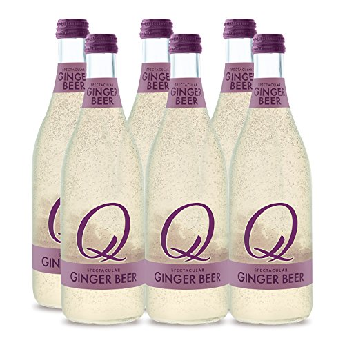 Q Mixers, Q Spectacular Ginger Beer, Premium Mixer, 500 ml Bottle (Case of 6)