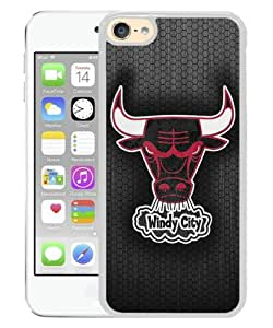 Unique iPod Touch 6 Case ,Popular And Fashionable Designed Case With Chicago Bulls 6 White iPod Touch 6 Phone Case