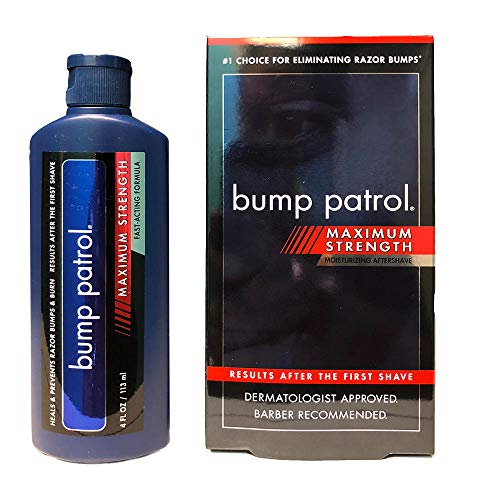 Bump Patrol Maximum Strength Aftershave Formula - After Shave Solution Eliminates Razor Bumps and Ingrown Hairs - 4 - Extra Strength Formula Serum