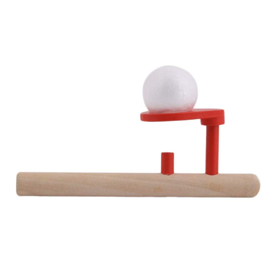 Kaemma Montessori Materials B/éb/é en Bois Coup de Passe-Temps Loisirs en Plein air Sport Jouet Balle Mousse Flottante Color:Wood and Red