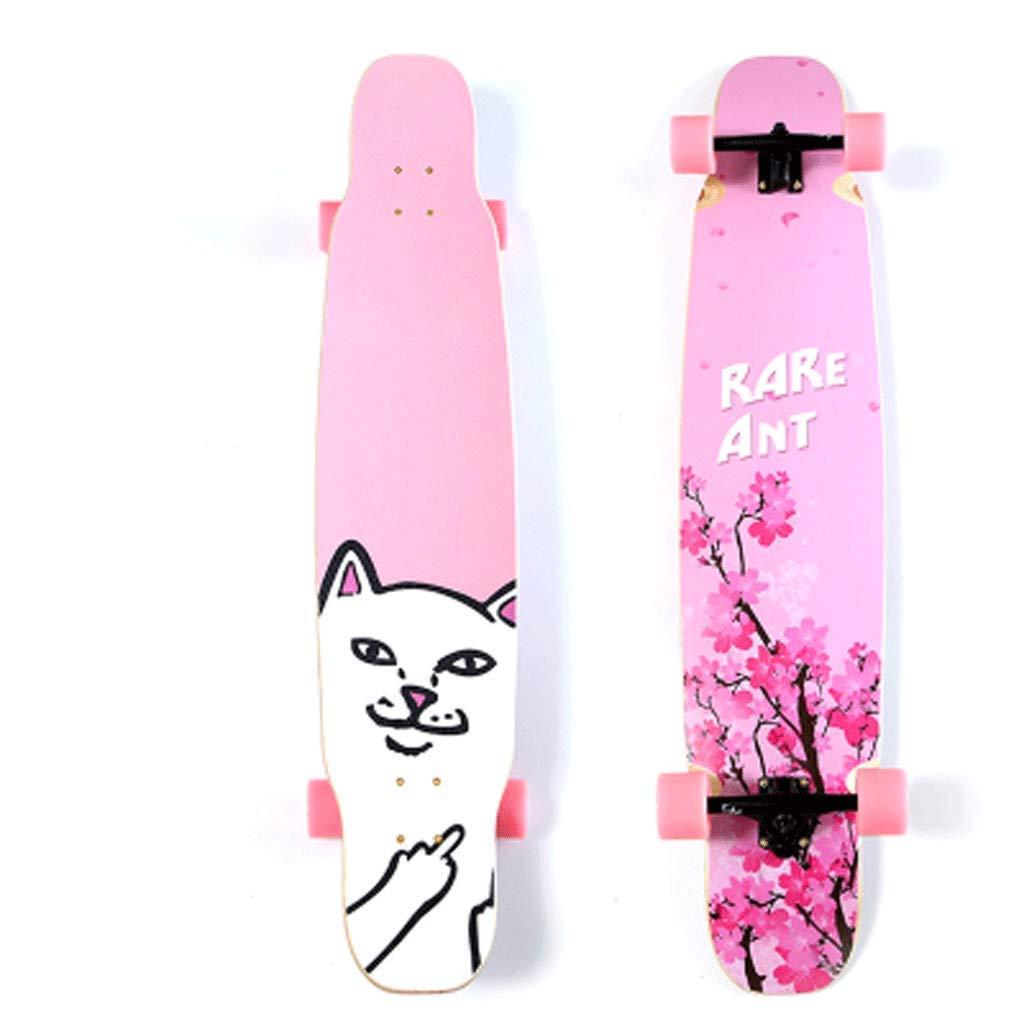KYCD Long Board Skateboard Erwachsene Jungen und Mädchen Tanzbrett Street Skills Anfänger Jugend Allrad Skateboard B07PWSHS49 Longboards Geeignet für Farbe