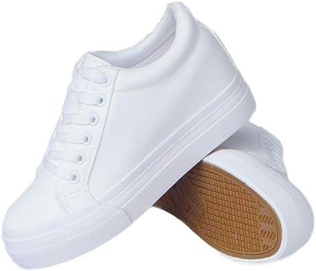 White Sneakers Women Wedge Platform
