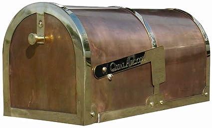 Qualarc mb-3000-pol Provincial colección rurales latón buzón de correos, acabado de