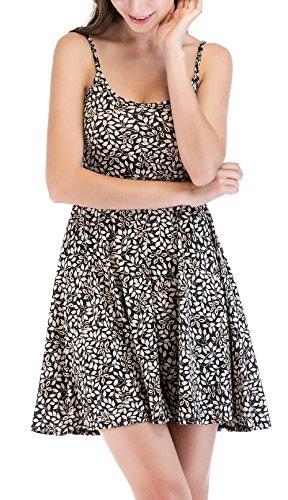 Damen Kurz Kleid Sommer Sexy Neckholder Kleider Tunikakleid ...