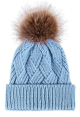 0c31e32a74c ... 3 Piece winter hat set. Commentaires. Arctic Paw Diamond Weave Knit  Beanie with Faux Fur Pompom