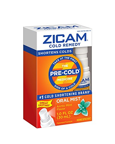 Zicam Cold Remedy Artic Mint Oral Mist, Fl Oz: Clinically Proven to shorten colds when taken at the first sign of symptoms, homeopathic by Zicam