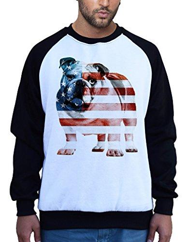 American Flag English Bulldog Tee B745 Men