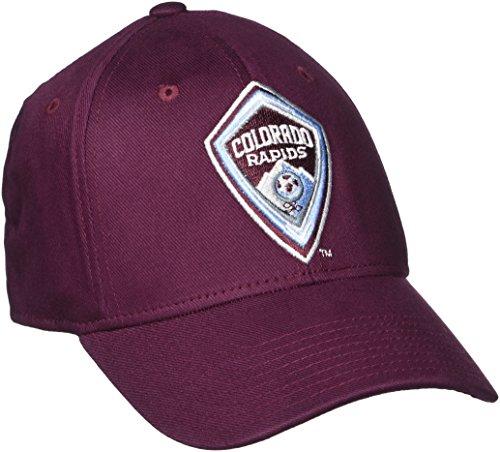 MLS Colorado Rapids Men's Basic Structured Flex Cap, Large/X-Large, - Cap Flex Structured