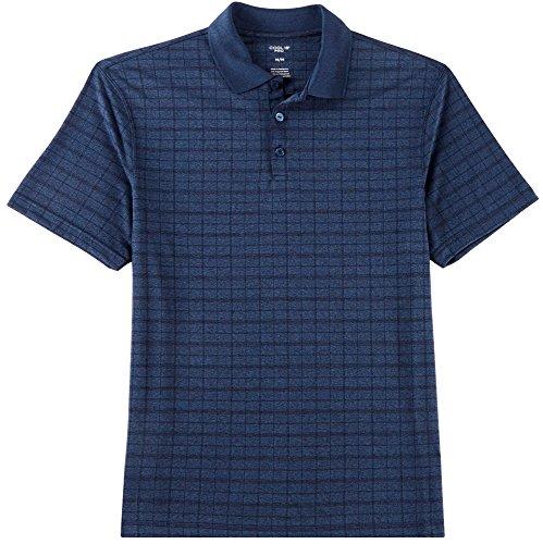 Haggar Mens Plaid Marled Short Sleeve Polo Shirt XX-Large De