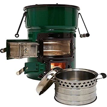 Big Foot Two-Door Cookstove and Super Pot Combo