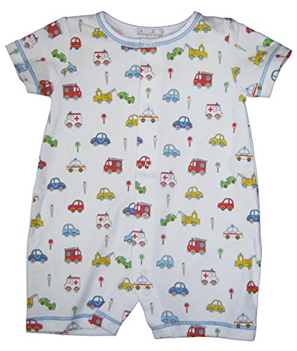 Kissy Kissy Baby-Boys Infant Rush Hour Print Short Playsuit