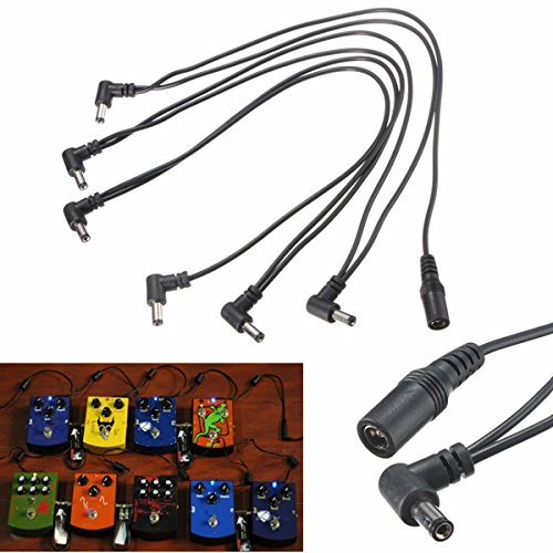 BephaMart 6 Way 9V Power Supply Splitter Cable Daisy Chain for Electric Guitar Effect Pedal