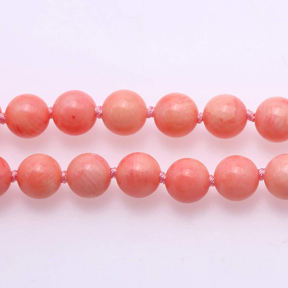 Pink Coral Bead Necklace DFNL00148