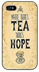 For Samsung Galaxy S3 I9300 Case Cover Where there's tea there's hope. Vintage - black plastic case / Walt Disney And Life Quotes